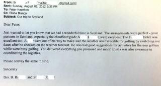 Scotland testimonial 2012